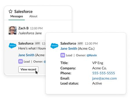 Salesforce example