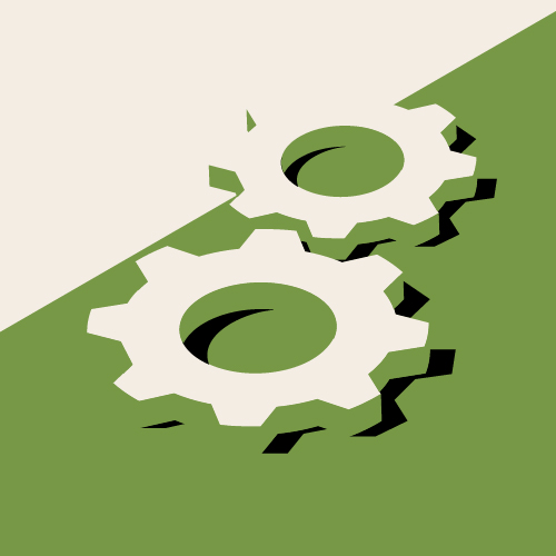 An image of two gears