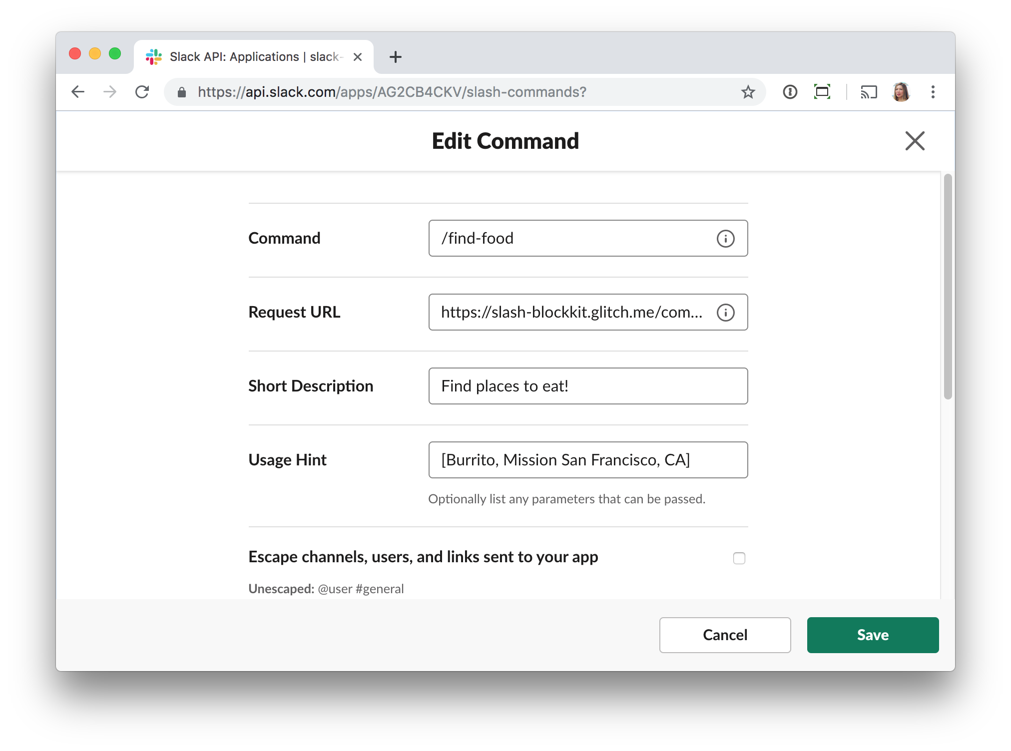 Building contextual search experiences using Block Kit and