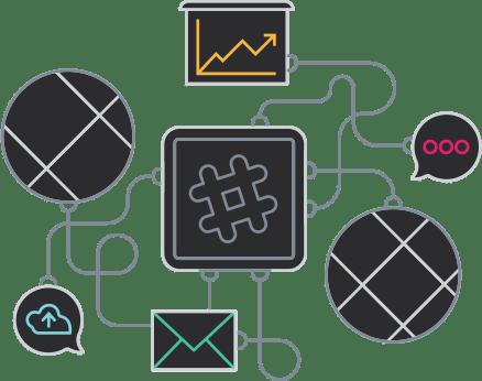 Les applications qui fonctionnent bien avec Enterprise Grid. Installez ces applications pour une expérience de travail optimale sur l'ensemble des espaces de travail et des chaînes.