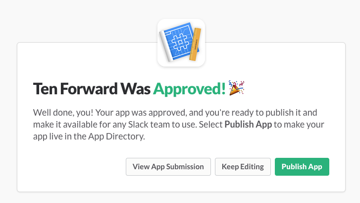 Your app, approved