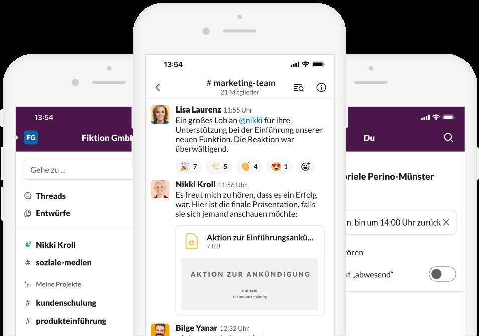 Screenshot der Slack App