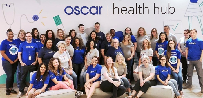 Oscar Health employee group picture