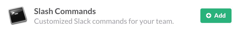 Add a slash command integration