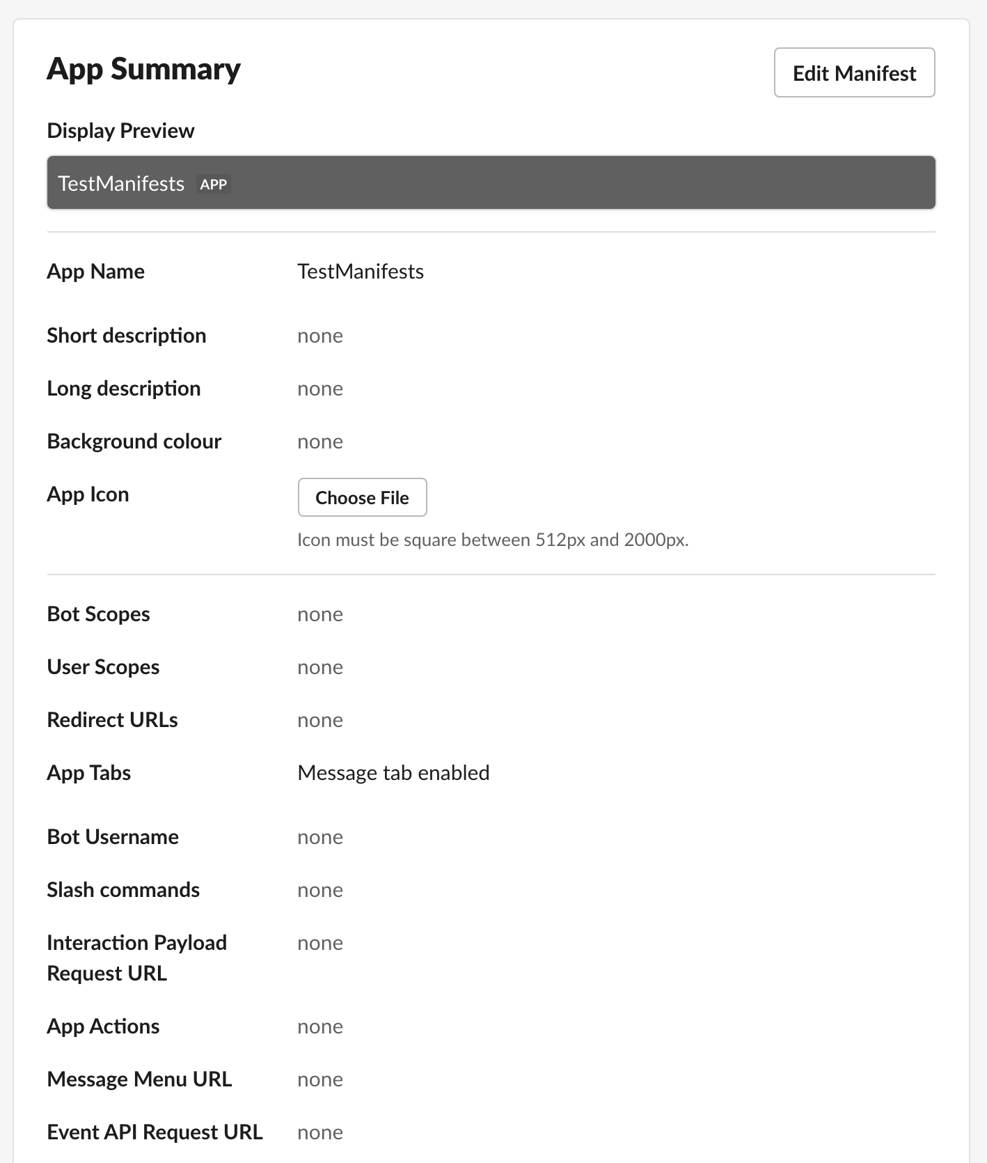 A screenshot showing the new app summary screen