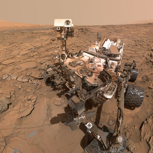 NASA Curiosity rover on Mars