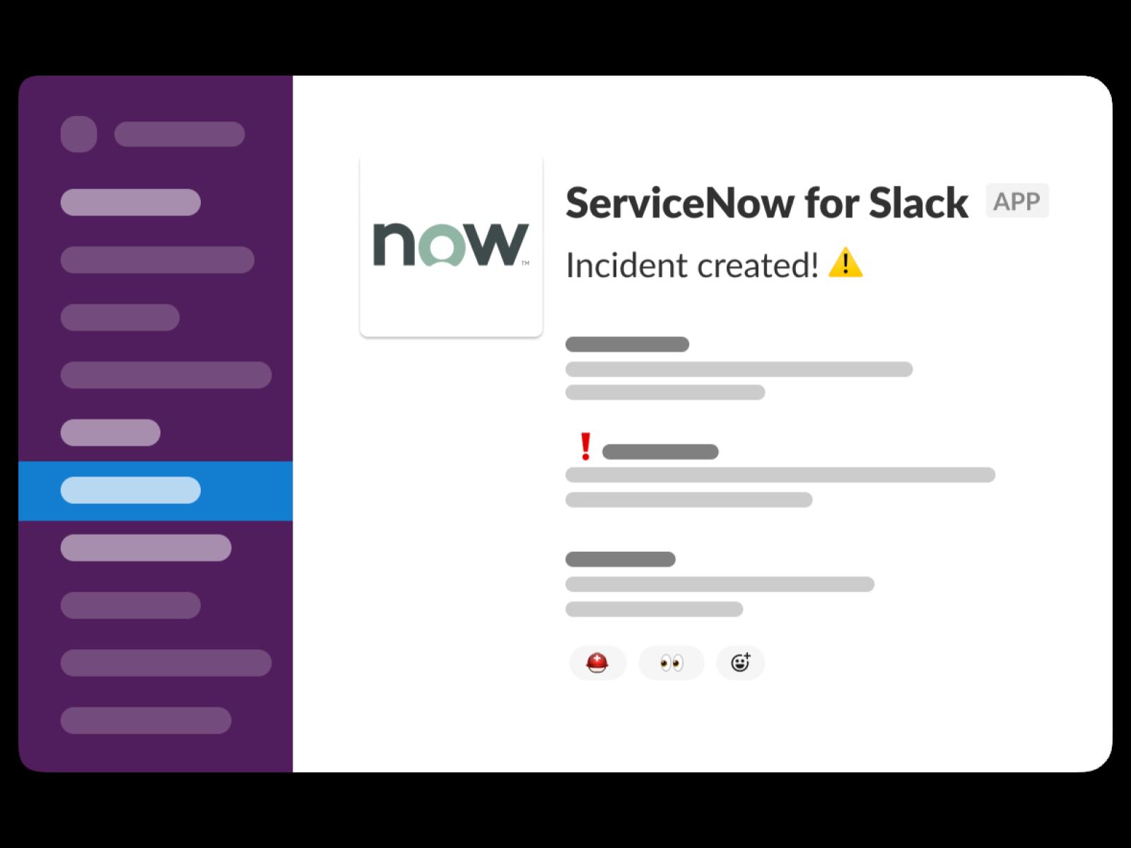 ServiceNow for Slack App