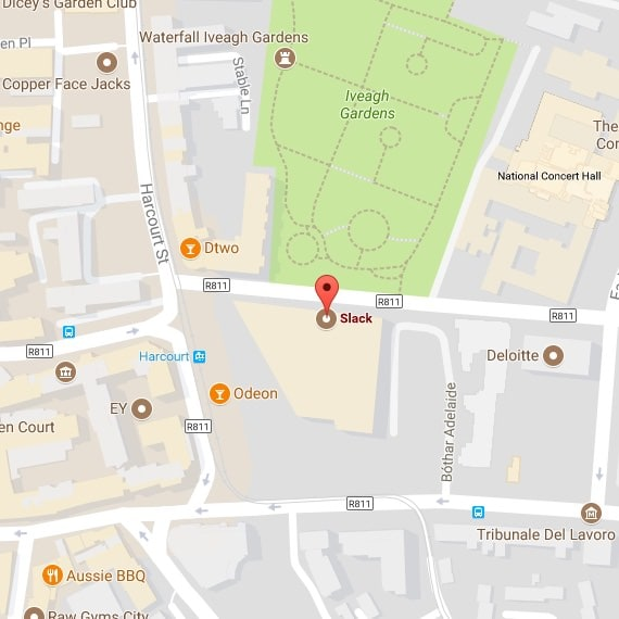 Map of the Dublin office