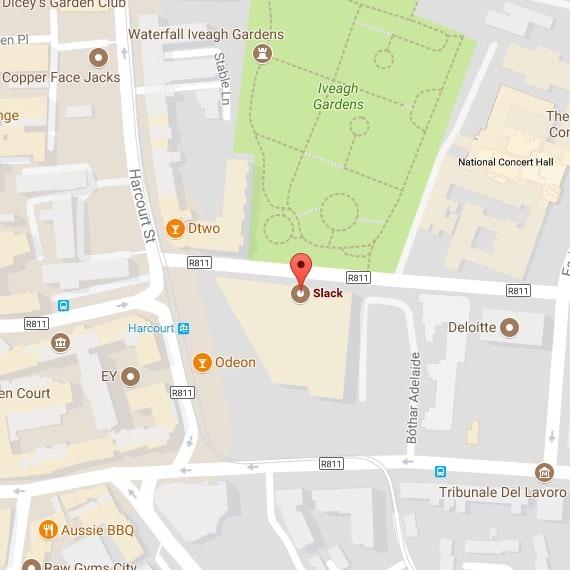 Mapa de la oficina de Dublín