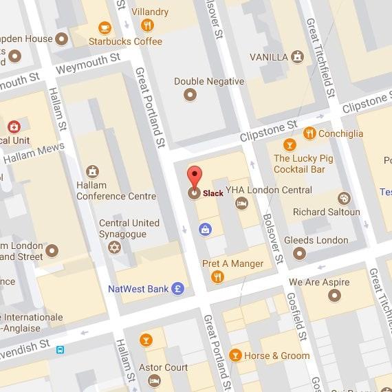 Plan du bureau de Londres