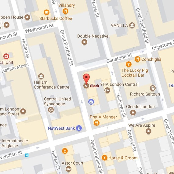 Mapa de la oficina de Londres