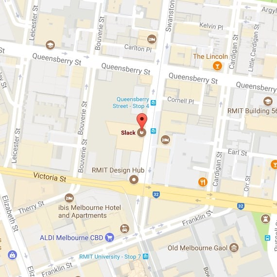 Mapa de la oficina de Melbourne