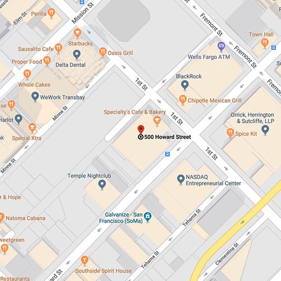 Karte des Standorts in San Francisco