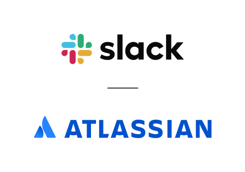 An image showing Slack and Atlassian as partners
