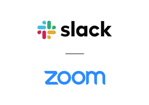An image showing Slack and Zoom as partners