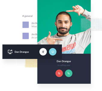 Get native video chat and calls built in to Slack.