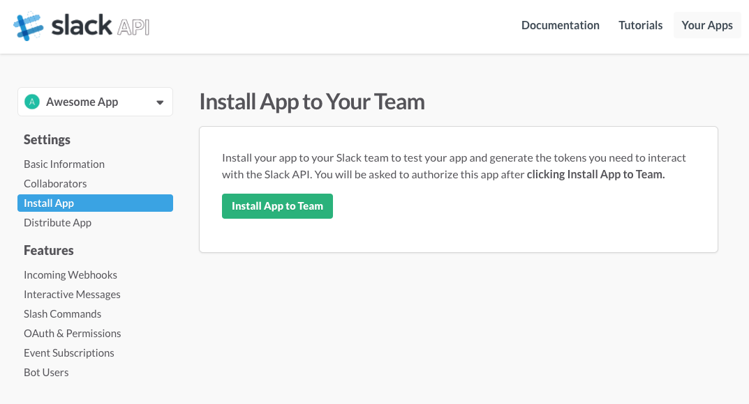 Install App Page