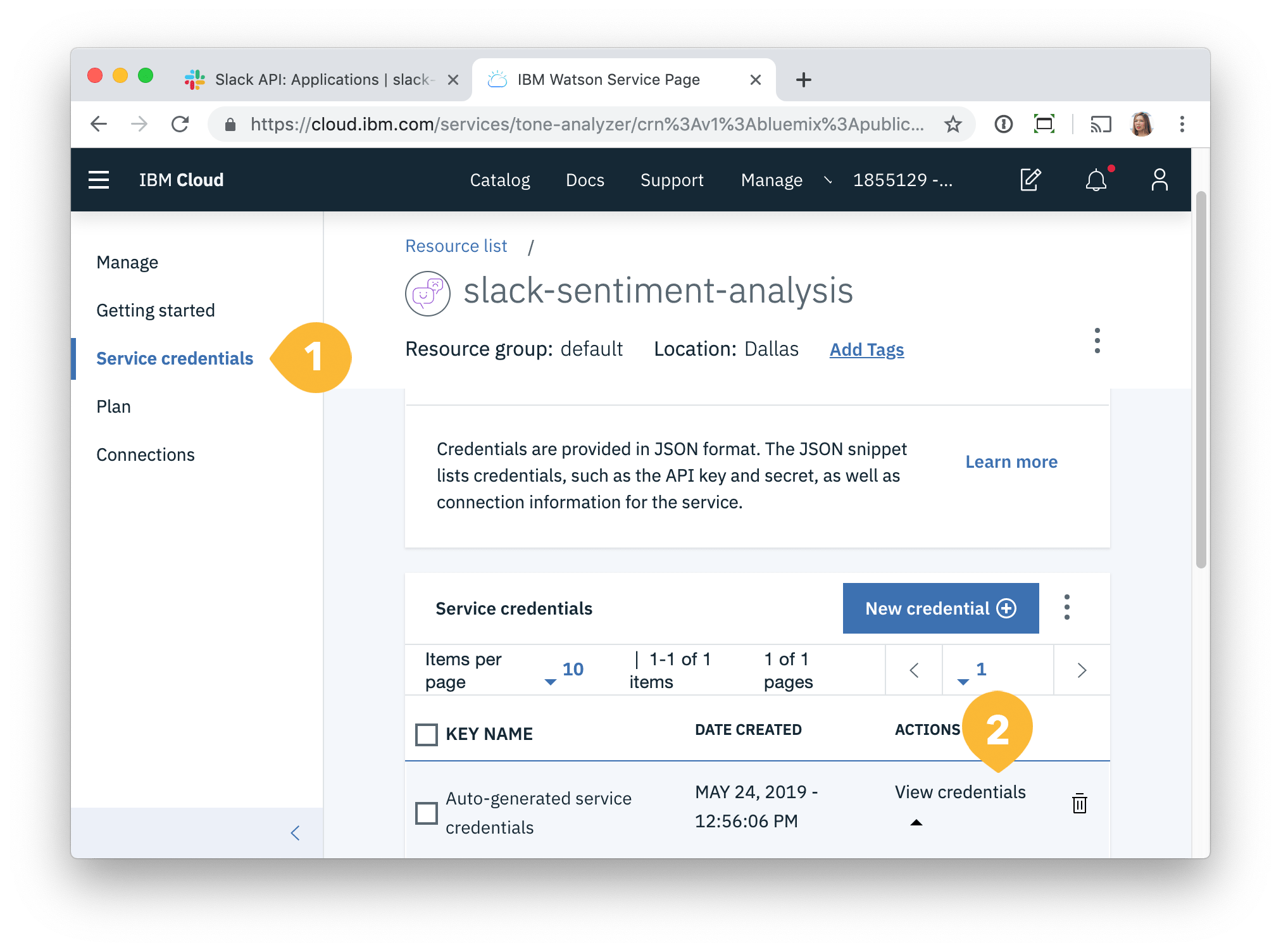 Building a sentiment analysis bot with IBM Watson and