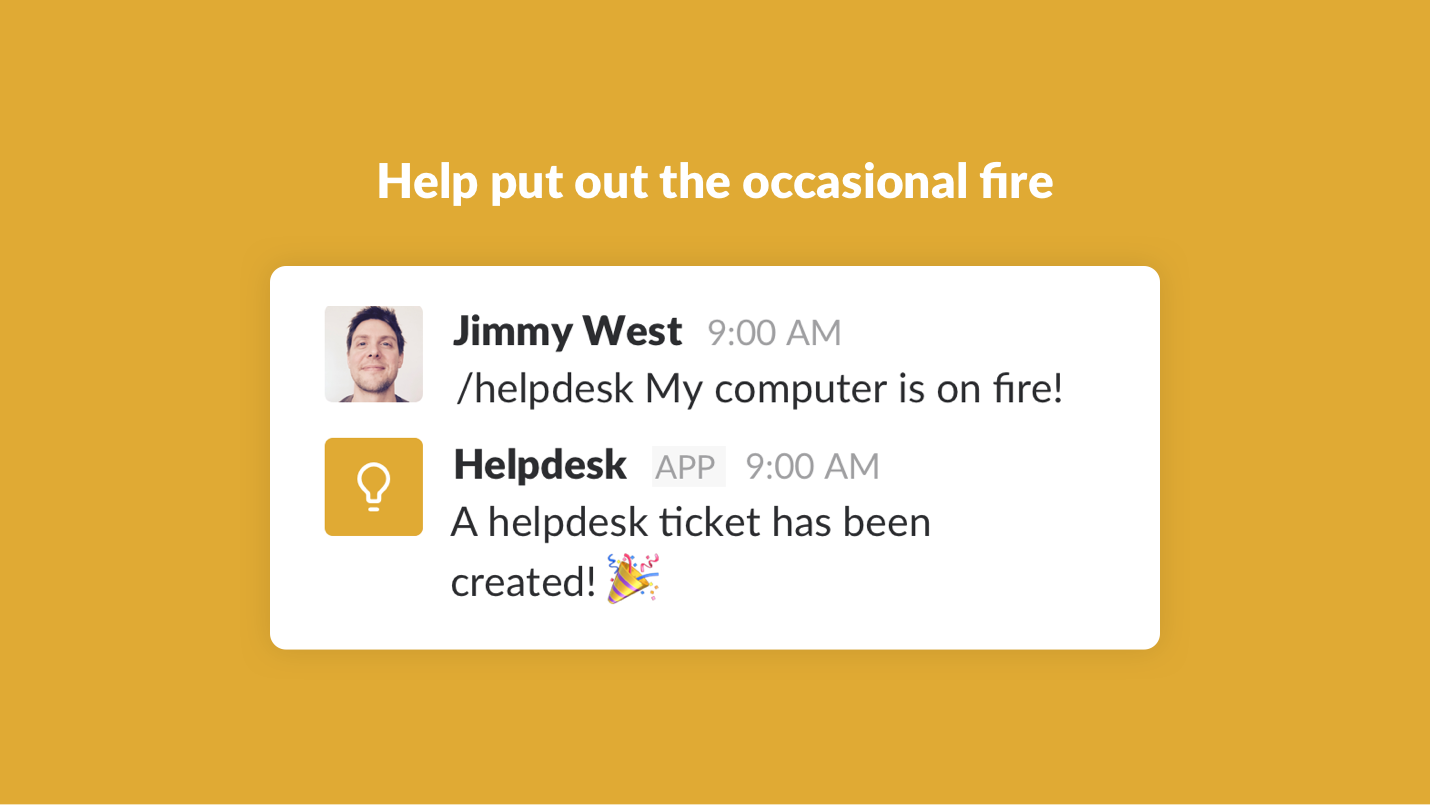 Helpdesk example screenshot