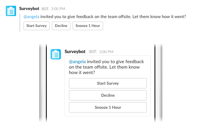 Survey bot desktop vs mobile