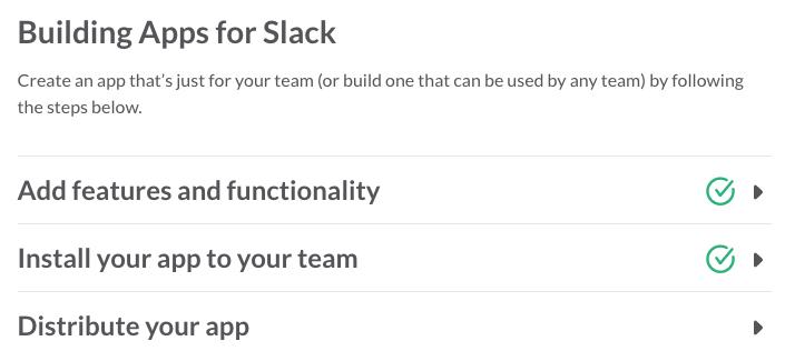 App creation progress