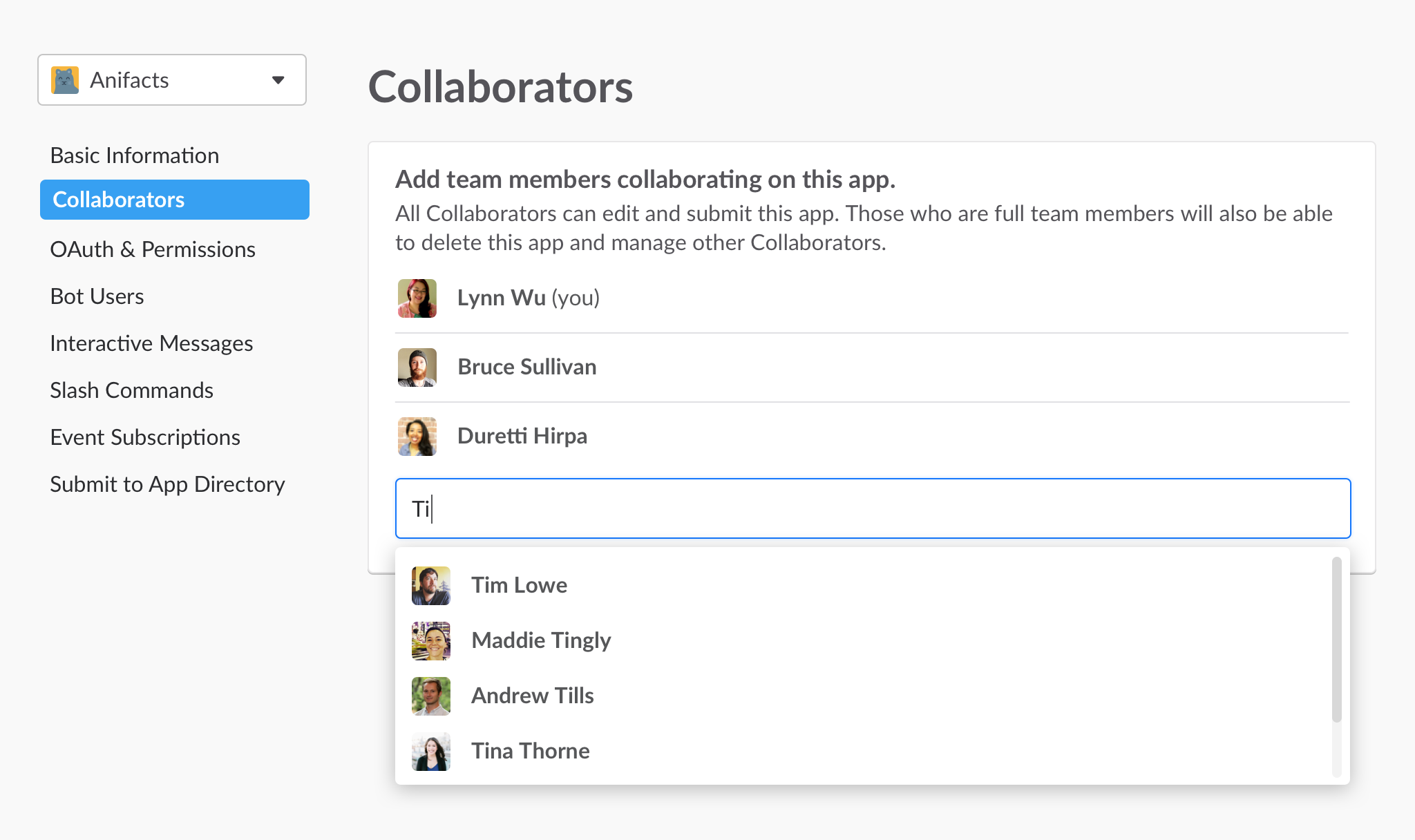Adding App Collaborators