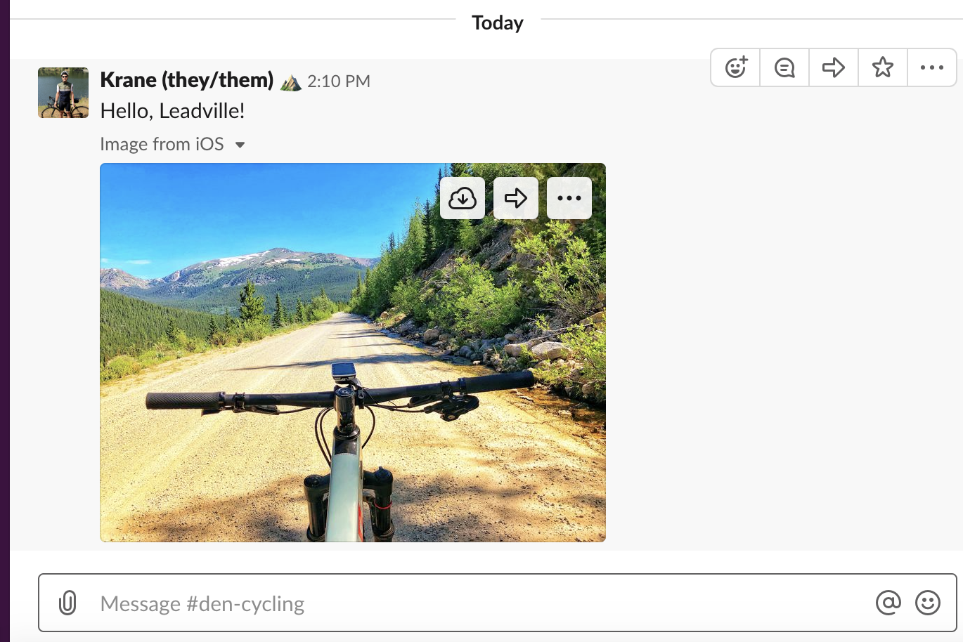 A picture of a bike in the mountains