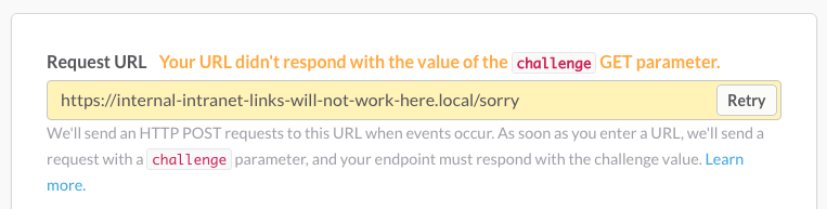 https://internal-intranet-links-will-not-work-here.local/sorry won't work so a different URL will need to be given before retrying
