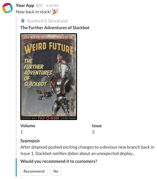 Looks like a great comic book is back in stock and it's time to ask employees what they think