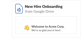 New Hire Onboarding document shared from Google Drive
