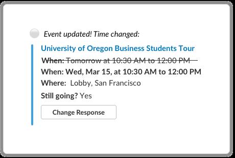 Outlook Calendar example