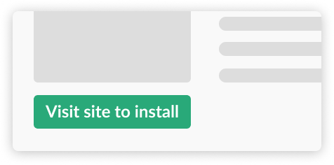 Install from your landing page