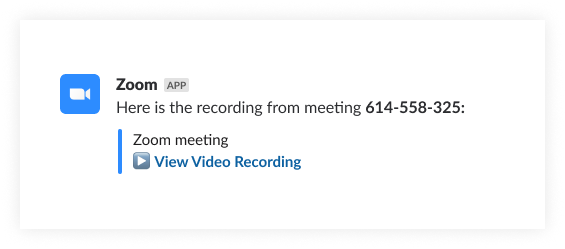 A simulated Slack screenshot shows a teammate requesting an ad-hoc meeting with a colleague using Zoom