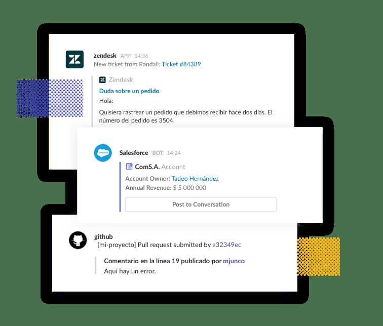 Conecta a Slack todas las herramientas que utilizas y evita pasártela de aplicación en aplicación.