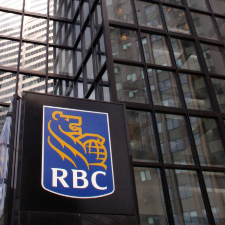 An RBC sign marks one of the bank's many locations.