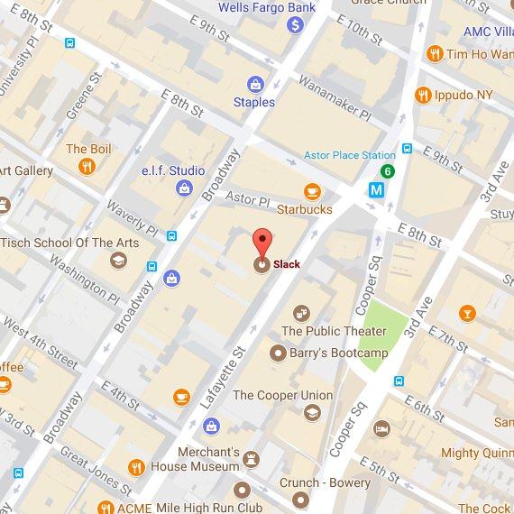 Karte des Standorts in New York