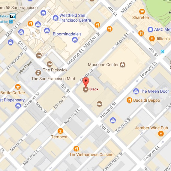 Map of the San Francisco office