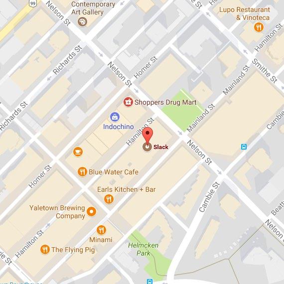 Karte des Standorts in Vancouver