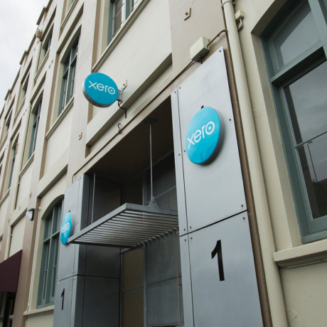 The entrance of a Xero office building
