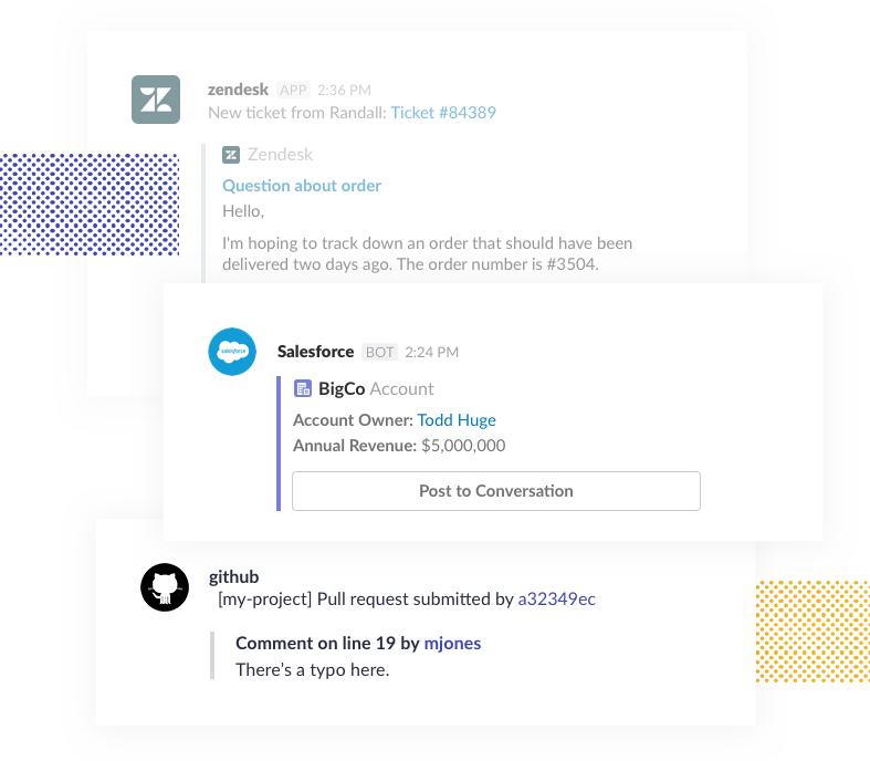 Connect all the tools you use to Slack and avoid all that constant switching between apps.
