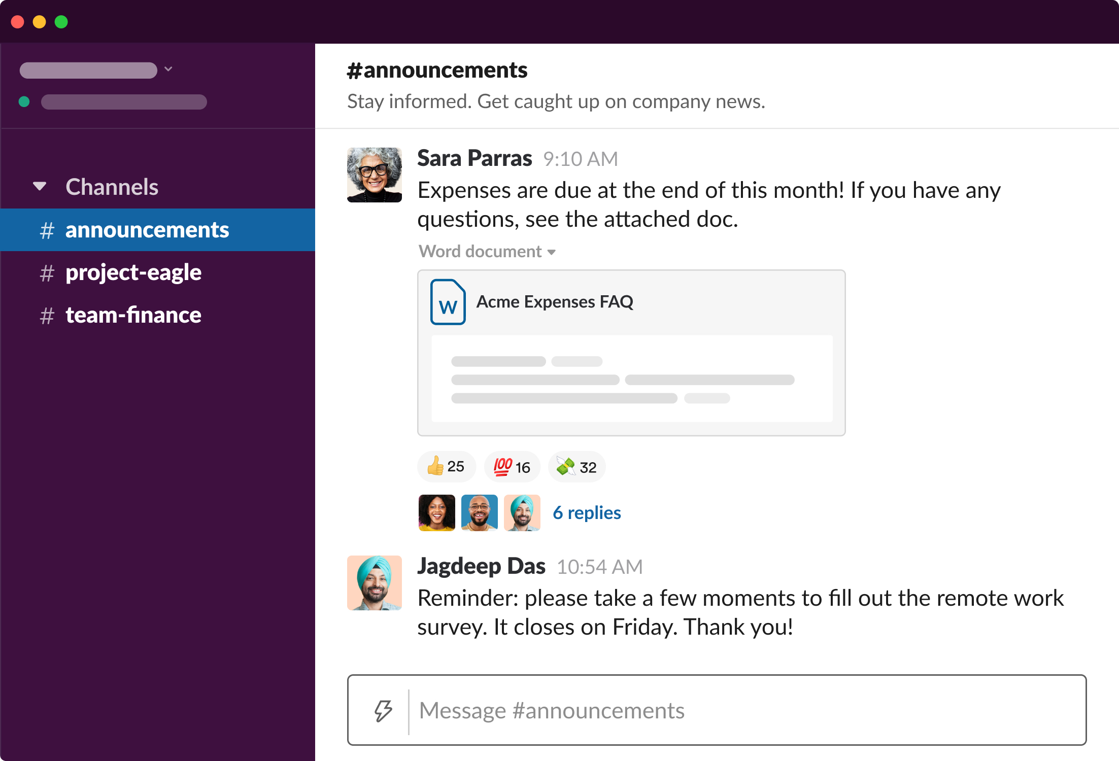 Slack communication tool