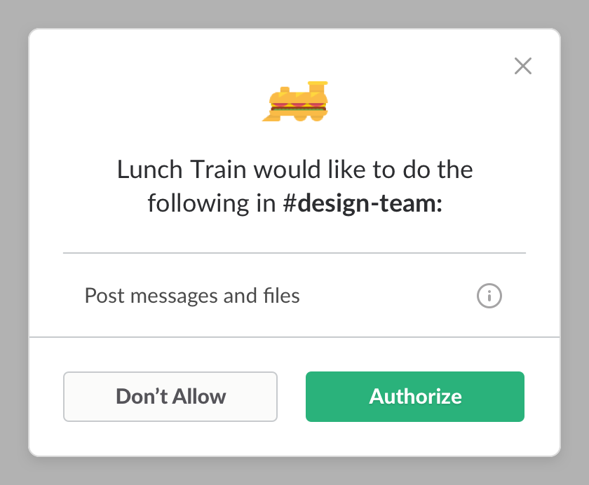 Lunch Train asks for more permission