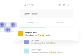 Find the final copy for your project with just one simple search.