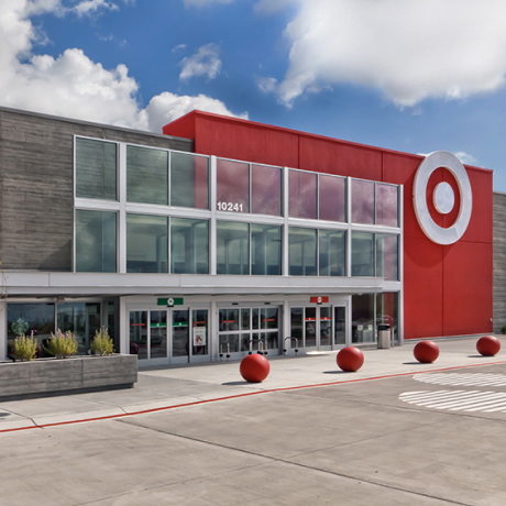 Exterior view of a Target storefront