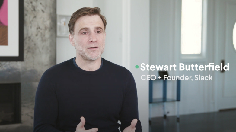 Image of video explaining the vision for Slack connect