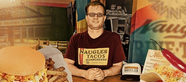 Christian Ziebarth at the Naugles test kitchen.