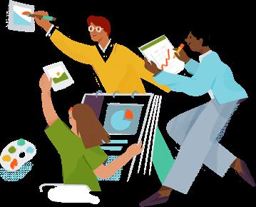 Slack bringt alle deine Informationen an einem zentralen Ort zusammen. Nachrichtenübermittlung in Echtzeit, Archivierung und Suchfunktion für moderne Teams.