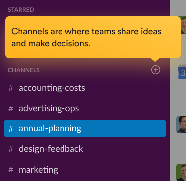 Teammates having a discussion in a channel in the Slack interface.