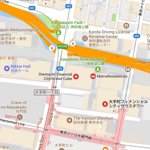 Map of the Tokyo office