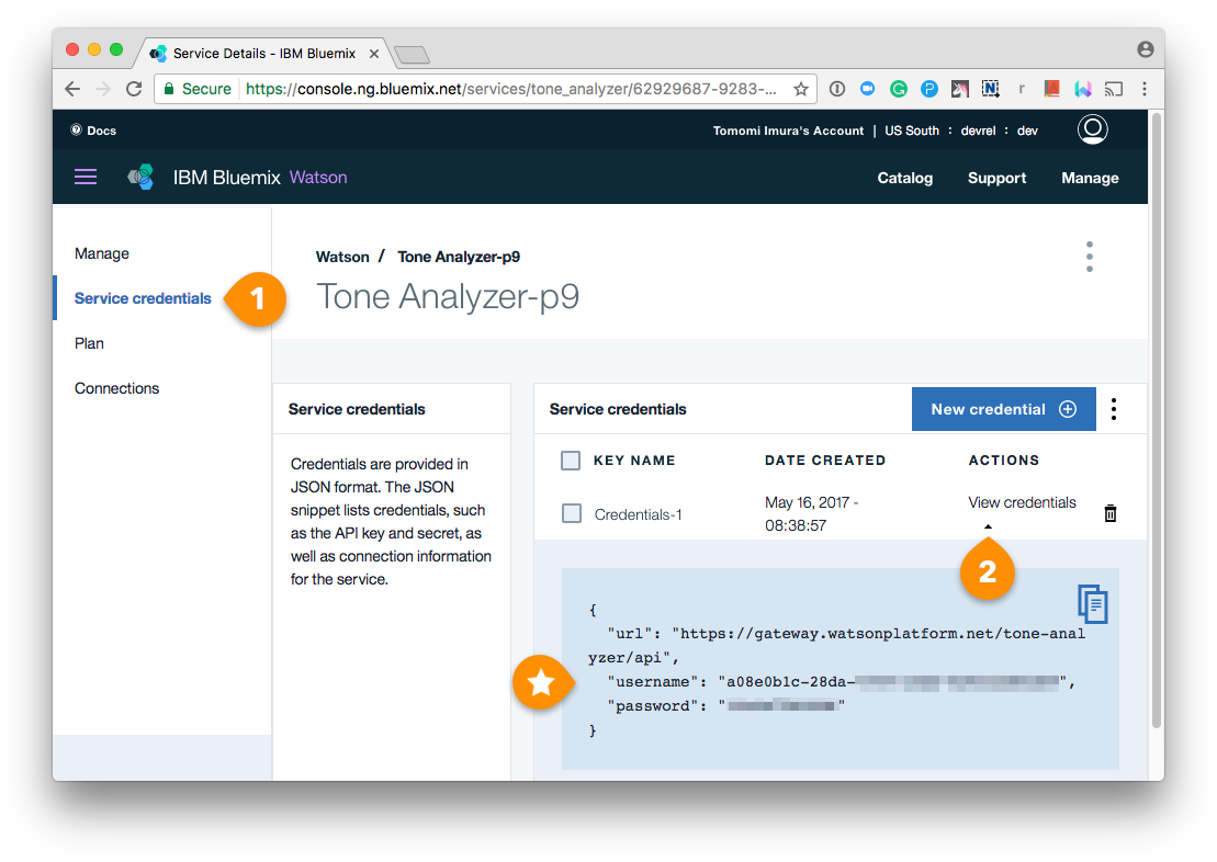 Bluemix Tone Analyzer